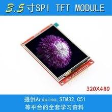 터치 패널 ili9488 드라이버가있는 3.5 인치 tft lcd 모듈 320x480 spi 포트 직렬 인터페이스 (9 io) 터치 ic xpt2046 for ard stm32
