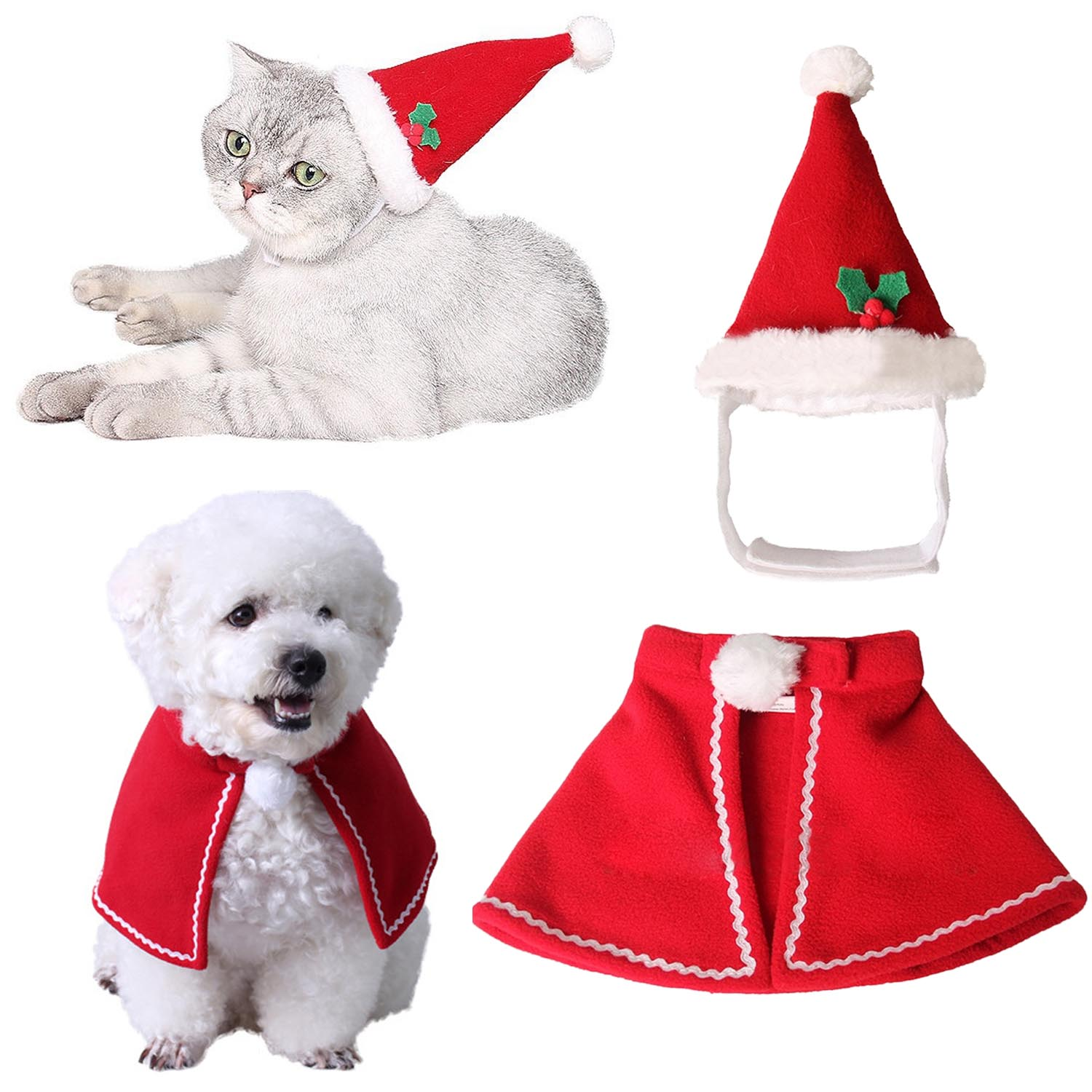 Dog Caps Home & Garden Shop For Cheap 1 Set Christmas Pet Hat Scarf Dog Puppy Cat Kitten Gifts Halloween Cosplay Costume Funny Decoration Red Mascot Soft Clothing