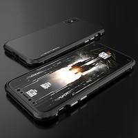 BOBYT Original Brand For Iphone X Aluminum Metal Bumper Frame PC Hard Armor Anti Knock Back