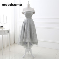 2018 Vintage A Line Bridesmaid Dresses Custom Made Sleeveless Junior Applique Tea Length Off The Shoulder
