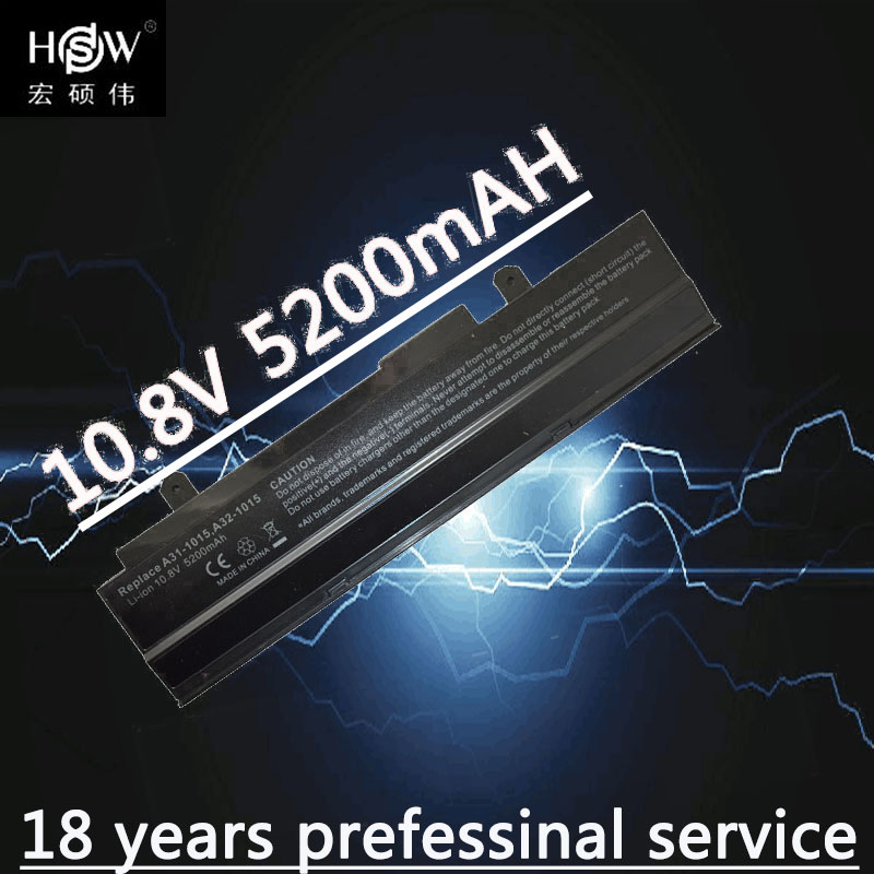 HSW 6Cells battery For Asus Eee PC 1011 <font><b>1015</b></font> 1015P 1015PE 1016 1016P 1215 1015px A31-<font><b>1015</b></font> <font><b>A32</b></font>-<font><b>1015</b></font> AL31-<font><b>1015</b></font> PL32-1015bateria image