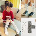 Vintage Long Socks Newest Cotton Girls Socks White Stars Socks for Kids Accessoires