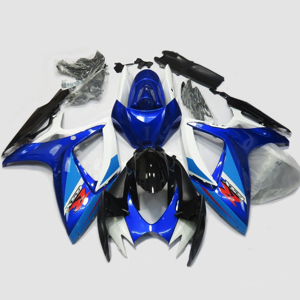 Blue Injection Molding Fairing For Suzuki GSXR 600 750 K6 2006 2007 GSXR600 GSXR750 GSX-R750 06 07 Full Fairings Kit Bodywork