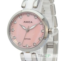 Amica Women S D Ceramics Quartz Sapphire Silver Tone Stainless Steel Wrist Watches A 1 4