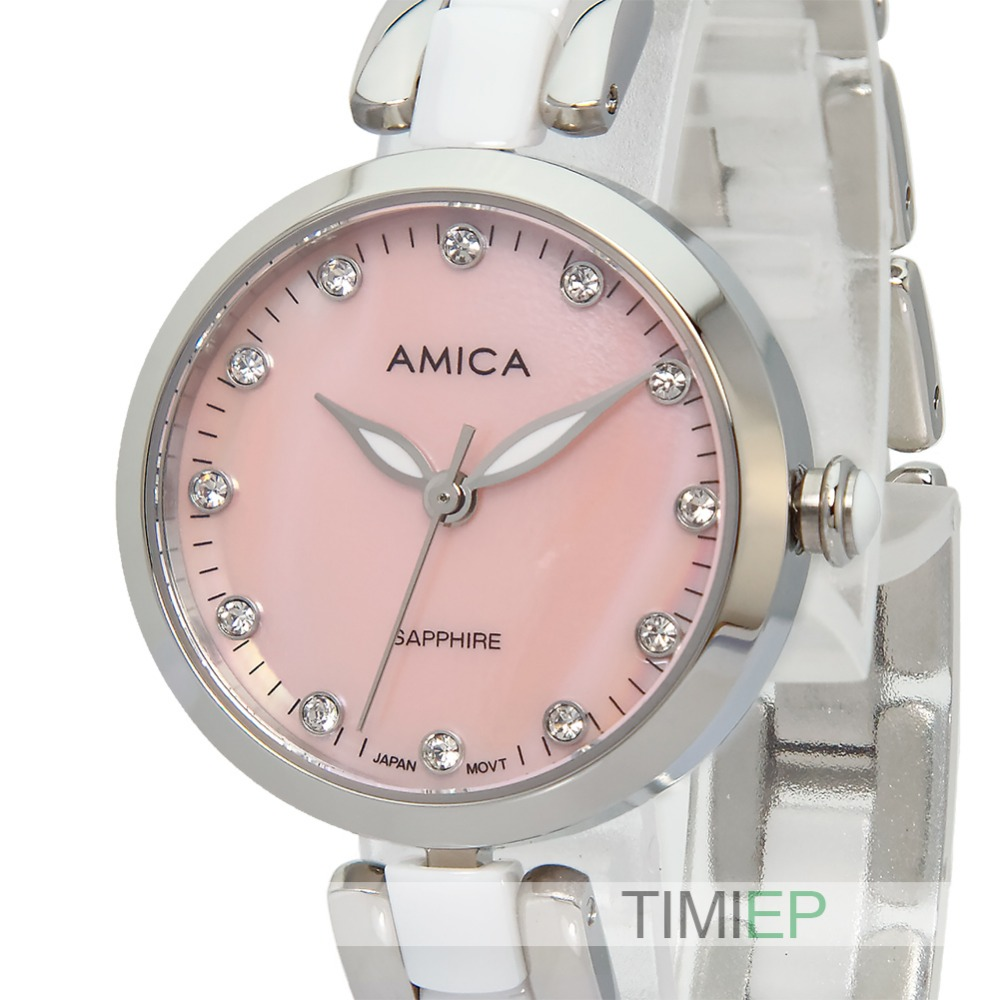 Amica Womens D-Ceramics Quartz Sapphire Silver Tone Stainless Steel Wrist Watches A-1-4Amica Womens D-Ceramics Quartz Sapphire Silver Tone Stainless Steel Wrist Watches A-1-4