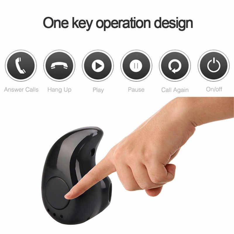 بلوتوث لاسلكي مصغر سماعة في الأذن سماعات الأذن الرياضية مع سماعة استيريو ومايك سماعة الأيدي الحرة سماعة رأس لهاتف آيفون X سامسونج Xiaomi