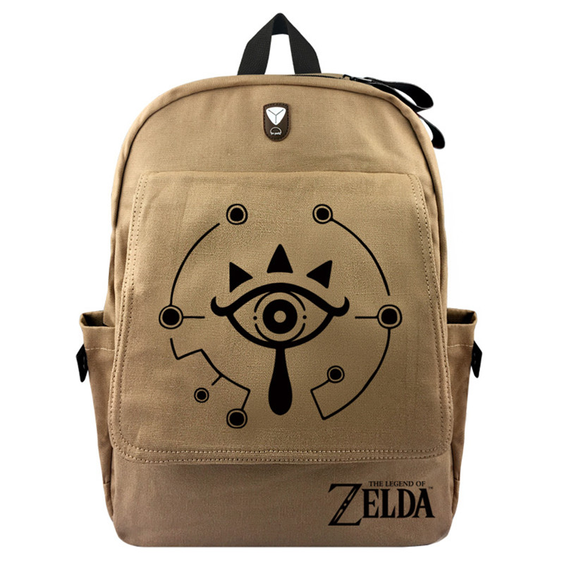 The Legend of Zelda Wild Breath Triforce Backpack Laptop School Bag Shoulder Bag Travel Cosplay Bag With Earphone hole Durable фото