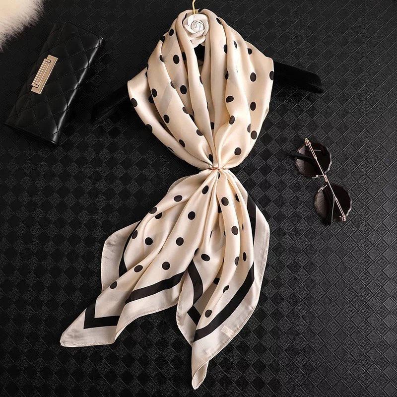 2019 Superior Quality 90*90cm Square Scarves Women Silk Scarf Office Ladies Hair Neck Bandanna Headband Foulard Headcloth Female