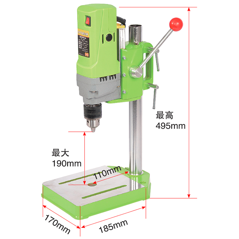 Tools : Electric bench drill 710W Mini drill Press Variable Speed 1-13mm drilling For DIY Wood Metal Electric Tools 220V