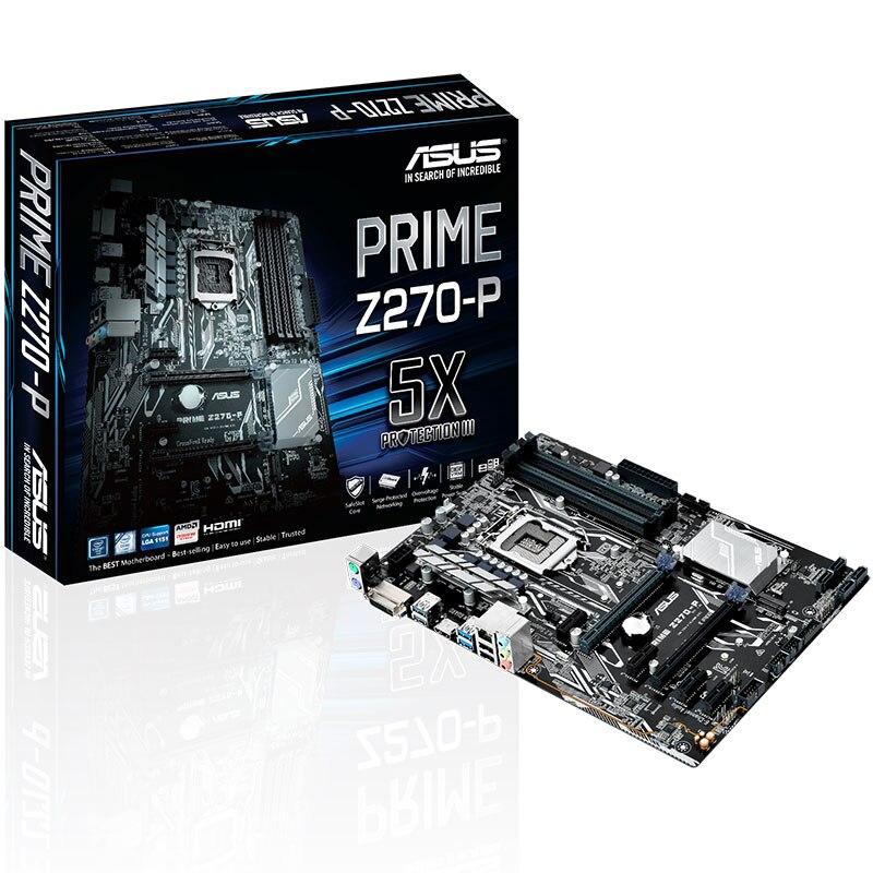 Новый ASUS премьер Z270 P оригинальный настольная материнская плата DDR4 LGA 1151 64 ГБ USB3.0 USB2.0 для I3 I5 I7 14nm процессора материнской платы
