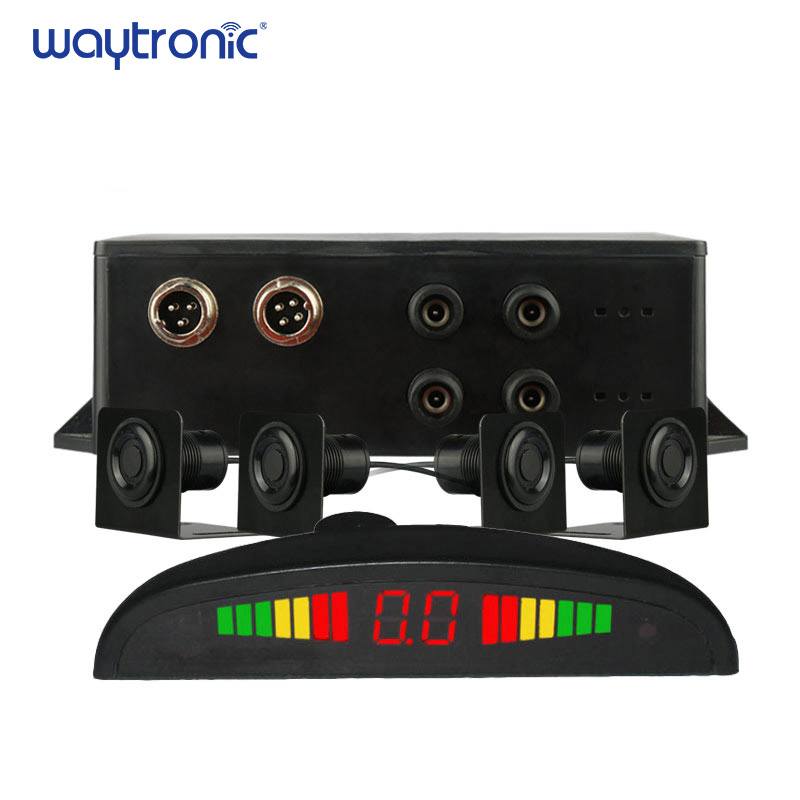Truck Lorry Backup Sensor Warning Alarm Reversing Radar Aid System 4pcs Parking Ultrasonic Sensor with LED Display Truck Lorry Backup Sensor Warning Alarm Reversing Radar Aid System 4pcs Parking Ultrasonic Sensor with LED Display