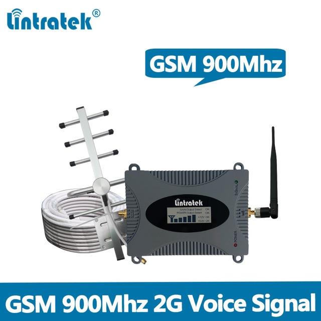 65dB 2G GSM Sinyal Tekrarlayıcı GSM 900 mhz Cep Sinyal Booster Amplifikatör Tam Set lcd ekran ile Yagi/kırbaç anten + 10 M Kablo