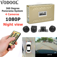 VODOOL 360 Degree Bird View Panorama System 1080P Car DVR Recorder Surround View Rearview Auto Parking Monitoring With 4 Cameras