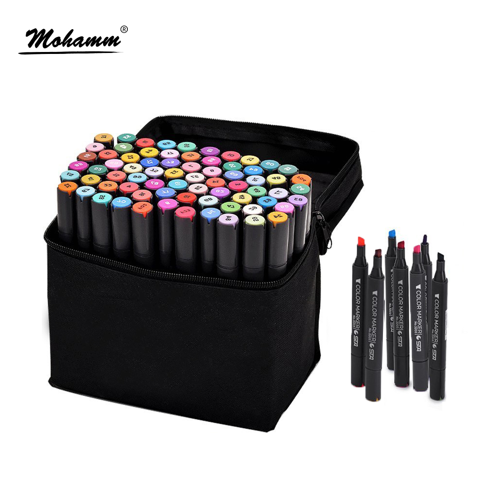 STA 30/40/60/80/128 Colors Alcohol Oil-Based Art Markers Dual Tips Design for Animation Comic Fashion Interior Design david walters linda luise brown design first design based planning for communities