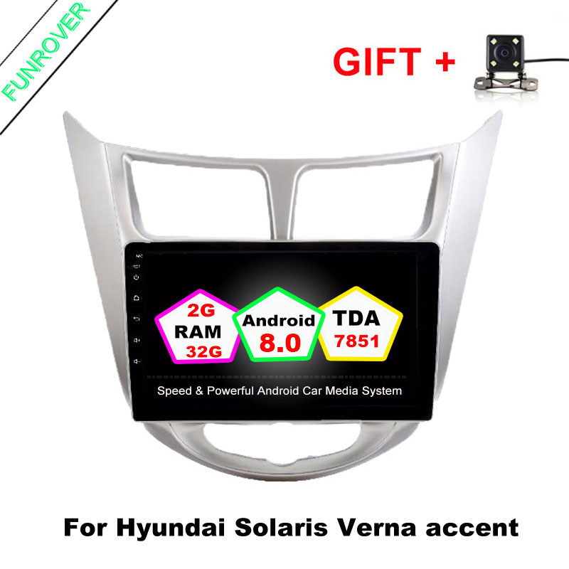 Freeshipping 9 2g 32g 2 Din Android 8 0 Quad Core Car Dvd Player For Hyundai