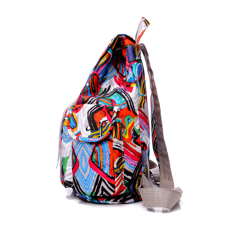 mochila de nylon Women Camouflage Backpacks Waterproof Nylon Backpack 16 Colors Lady Womens Backpacks Casual Travel Bag JQ045/q