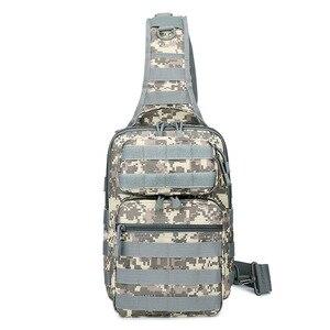 Image 3 - Chiến Thuật Túi Đeo Trước Ngực Túi Đeo Quân Đội Sling Lưng Ba Lô Camo Quân Sự Săn Bắn Túi Cắm Trại Đi Bộ Đường Dài Quân Mochila Molle Đeo Vai Gói