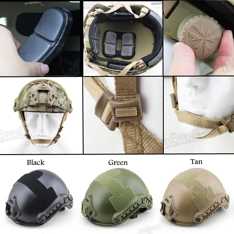 New FAST Helmet Airsoft MH Camouflage Tactical Helmets ABS Sport Outdoor Tactical Helmet