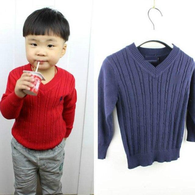 Hot sale autumn&winter 1-6yrs children sweater knitwear V-Neck baby boys girls Thread sweater kids sweaters Free shipping
