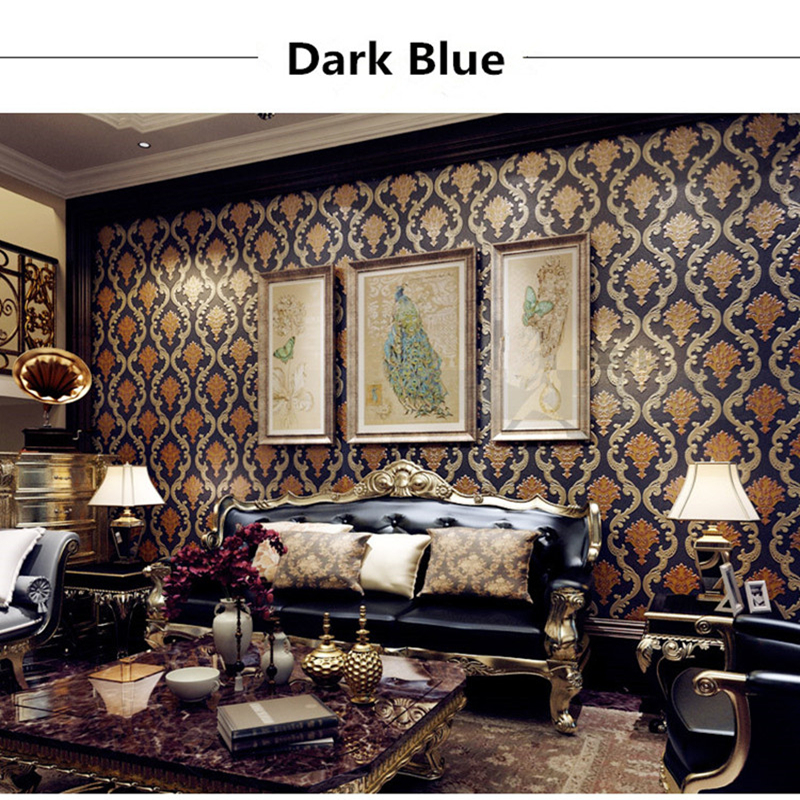 3D Damascus Luxury Photo Wallpapers European Vinyl PVC Wall Papers for Living Room Bedroom Wallpaper Rolls Home Decor Flowers wallpapers youman 3d brick wallpaper wall coverings brick wallpaper bedroom 3d wall vinyl desktop backgrounds home decor art