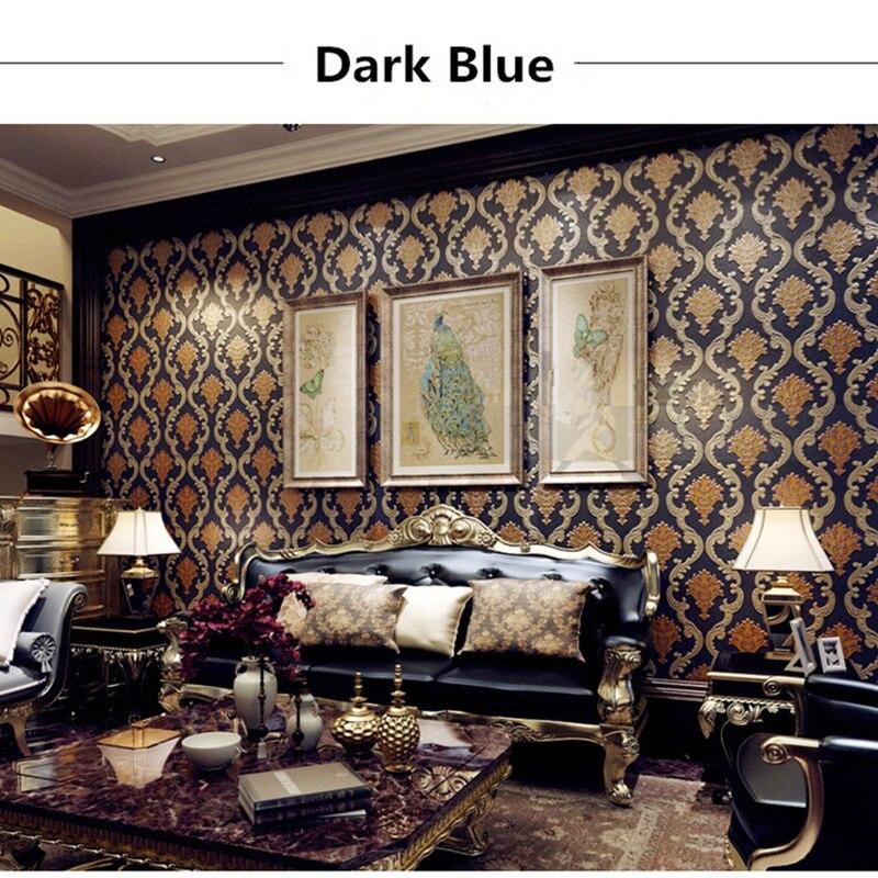 Papier peint de luxe 3D damas papier peint européen en vinyle PVC pour salon chambre papier peint rouleaux décor à la maison fleurs