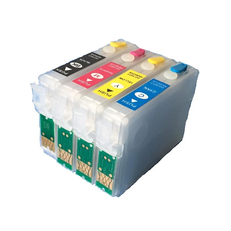 Újratölthető T1281-T1284 tintapatronok üres az Epson SX125 számára SX120 SX130 S22 SX230 SX235W SX420W SX425W SX430W ARC chipekkel
