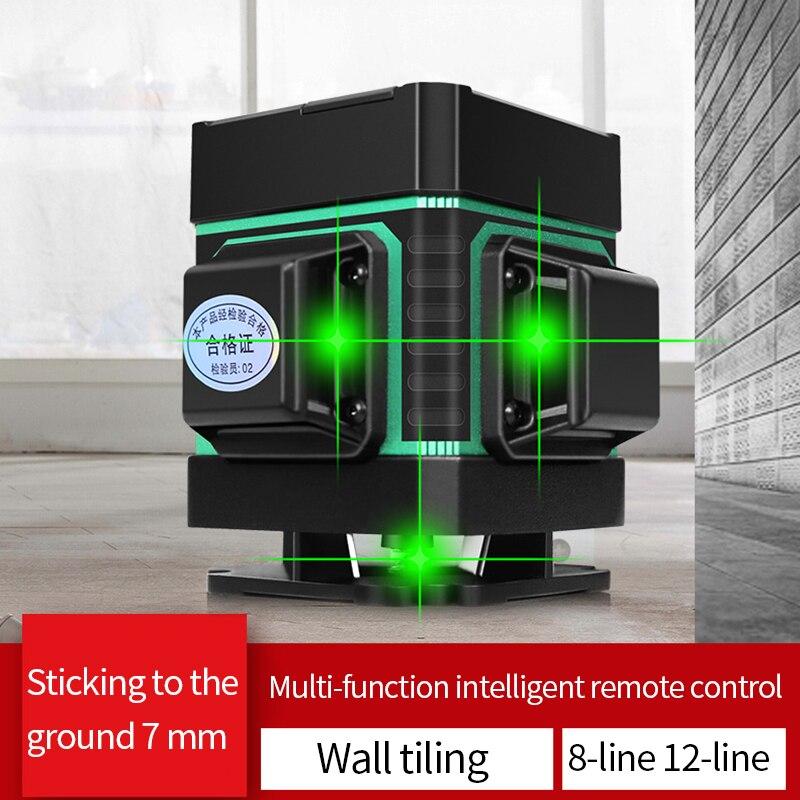 Nuovo 12-linea verde ad alta precisione di livello di acqua piatta metro forte luce strumento di livellamento piano strumento linea di terra strumento