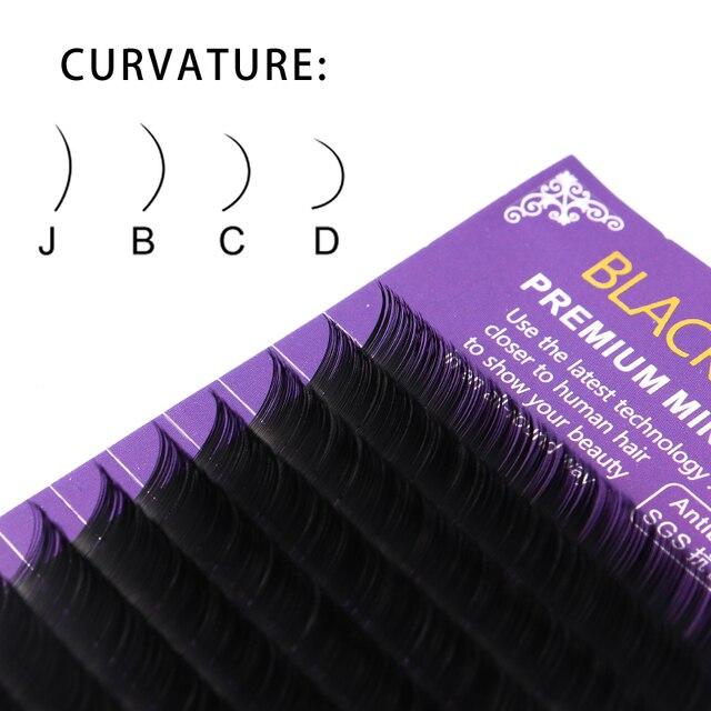 BLACE PRINCE individual mink eyelashes russian volume eyelash extensions supplies mega volume lashes individual lash extension 3