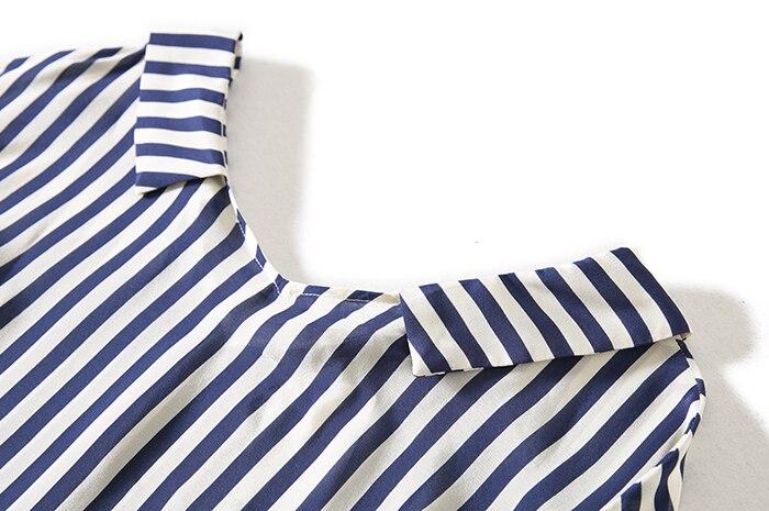 Seide Streifen Ol De Maulbeerseide Die Klassischen 2018 T Chine Von Crepe Sommer 100 Blau Wind Neue shirt SS6qYP
