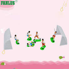 FANLUS עוגת קישוט קיט CupCake לקשט Kit (כדורגל צוות (6 שחקנים 2 מטרות))
