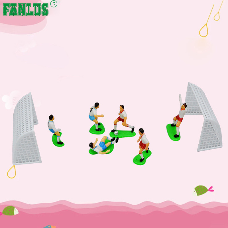 FANLUS Cake Decorating Kit CupCake Decorating Kit (Soccer Team(6 Players 2 Goals))