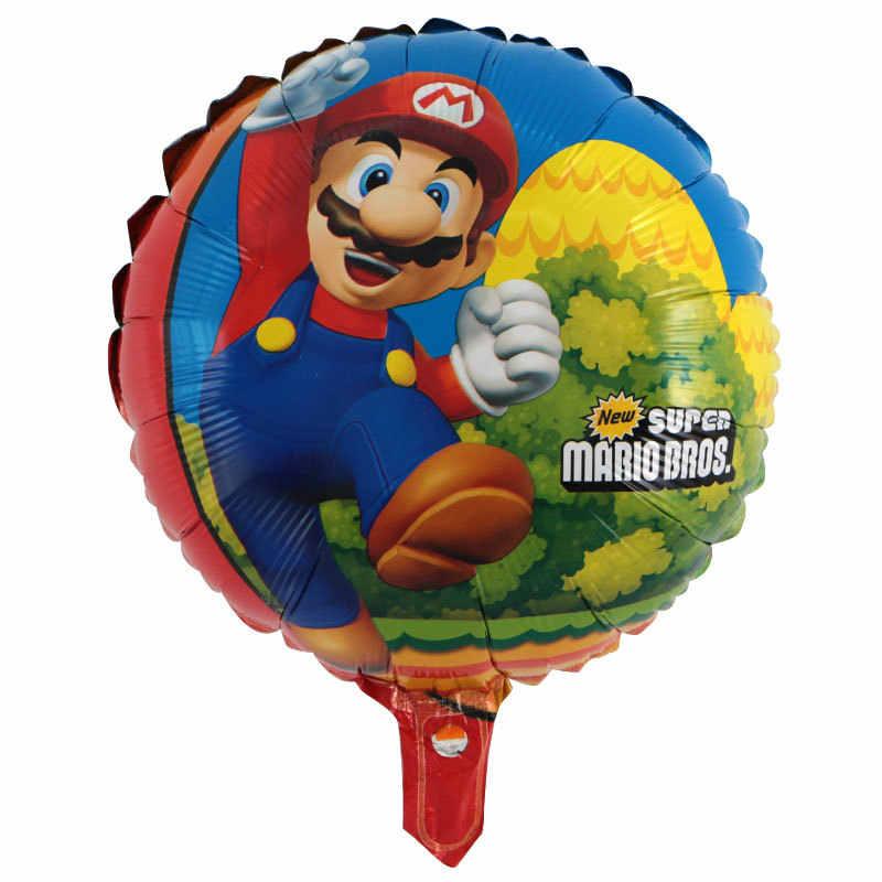 5 piezas de Super Mario Bros Globos de fiesta de cumpleaños de Luigi Mario Bros globo de helio Globos del Día de los niños regalo decoración suministros
