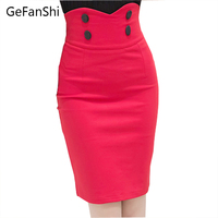 Fashion Office Ladies High Waist Short Mini Skirts Womens Sexy Pencil Bandage Bodycon Skirts 2016 Spring