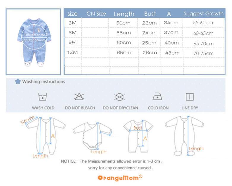 Купить с кэшбэком Orangemom newborn fashion baby pajamas & sleepwear baby clothing baby boys clothes for girls rompers 100% cotton kids rompers