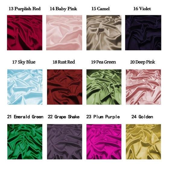 16MM 42 '' lățime, netedă de culoare solidă din mătase Stretch - Arte, meșteșuguri și cusut - Fotografie 3