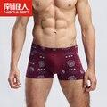 Impressão totem dragão dos homens cintos de underwear masculino calças de algodão sexy u cantos convexos boxer calzoncillos hombre marca tamanho lager