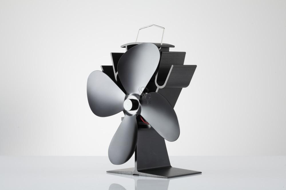ФОТО Free shipping Mini 4 Blade Ecofan Inbuilt protection system Stove Top Fan Stove Fan 16% Fuel Saving Fan