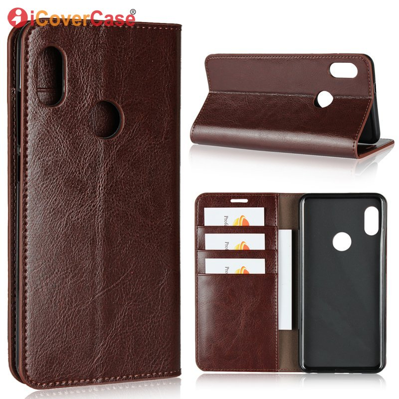 Luxury Wallet Case For Xiaomi Redmi Note 5 Global version Genuine Leather Cover For Redmi Note5 Pro Flip Bag Capinha Etui Coque