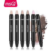 シマーマットアイ光アイシャドウ蛍光鉛筆自然なメイクアップ化粧品のツールでスポンジアプリケーター MSQ