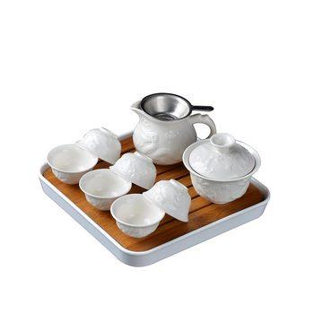 China Ceramic Teapot Travel Kung Fu Tea Set Set Travel Tea Set Carrying Case Outdoor Tea Set Storage