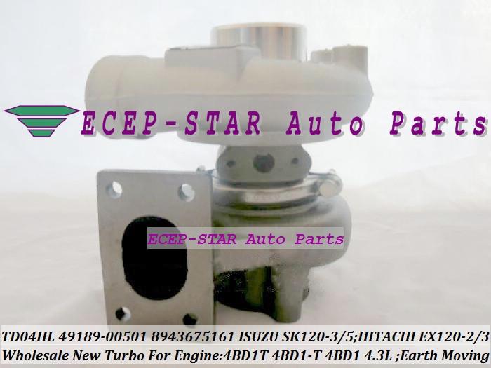 TD04HL 15G 49189 00501 8943675161 turbo для isuzu землеройной SK120 3 SK120 5 для Hitachi EX120 2 EX120 3 4BD1T 4BD1 T 4BD1 4.3