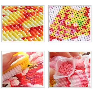 Image 4 - Flor de Europa caliente arreglo 5D Diy diamante pintura florero Cruz puntada diamante bordado pintura de pared de diamante