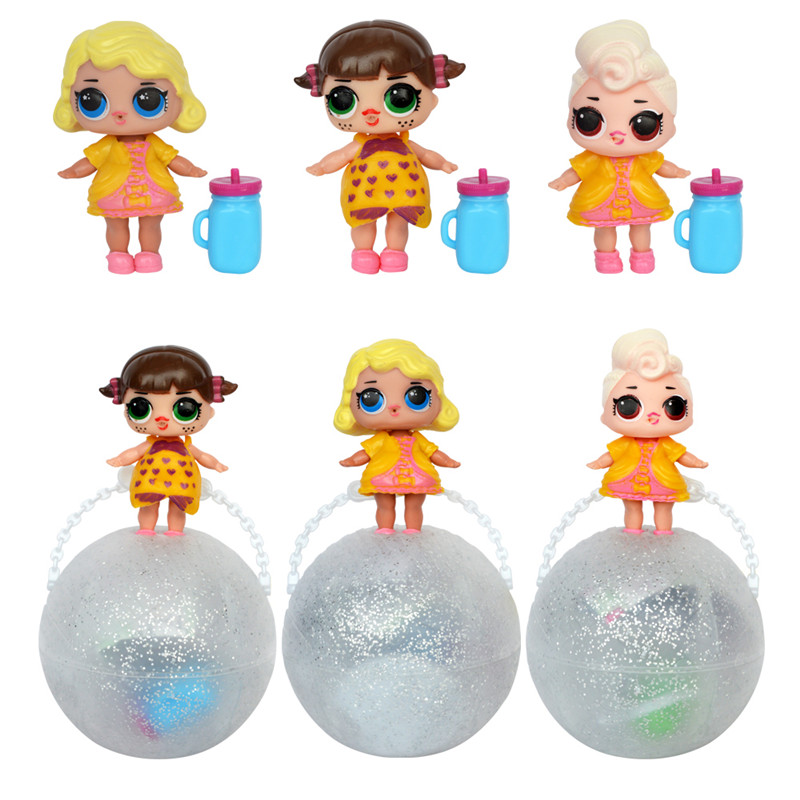 6pcs/box Doll new Color Change Egg Ball Toys Dress Up Toy Figure new Dolls Funny Toys for Kids Girls Gift Sent by Randomly handmade chinese ancient doll tang beauty princess pingyang 1 6 bjd dolls 12 jointed doll toy for girl christmas gift brinquedo