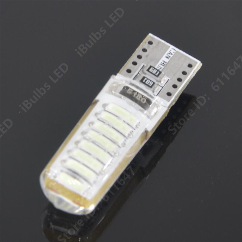 10PCS High Quality T10 Canbus Error Free W5W 16 LEDs 194 501 4014 SMD Auto Silica Gel Car Interior lights Wedge Lamp DC 12V 10pcs super bright led lamp t10 w5w 194 6smd 4014 error free canbus interior bulb white for car dc 12v free shipping new