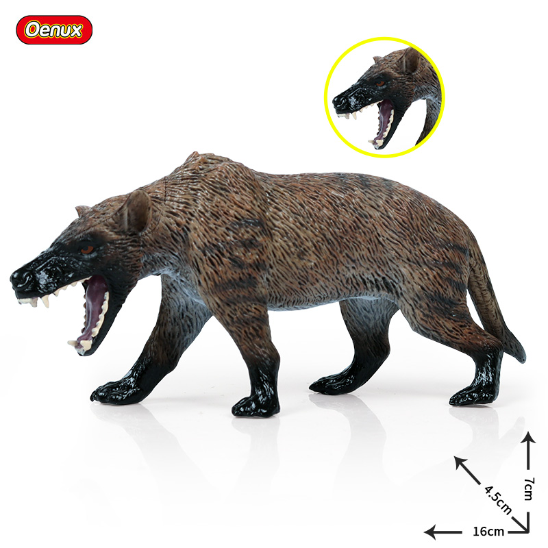 Oenux Action Figures Wolves-Beast Animal Model Wolf Kids Gift Canis-Dirus Genuine Original