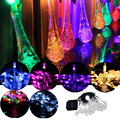 Солнечные Капля Фея Свет Шнура Открытый Рождество Свадьбы Garden Party Декор 30
