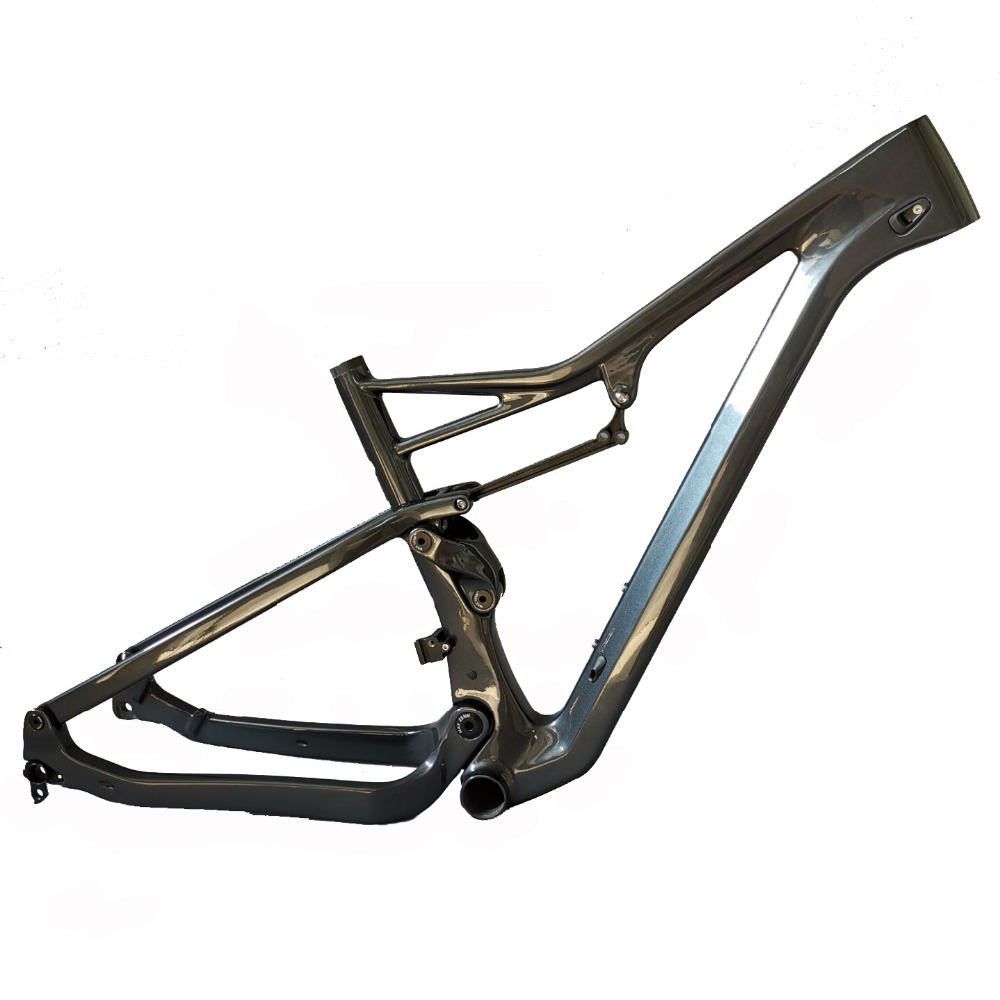 2019 Free shipping suspension frame 27.5er boost and 29er Boost MTB carbon bike frame XC 29er boost suspension frame Metal gray|Bicycle Frame| |  - title=