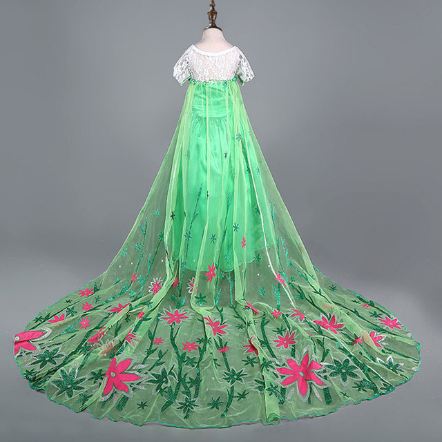 New Elsa dress long sleeve girls costume snow queen cosplay dress princess Anna girls clothes vestidos infantis disfraz 4