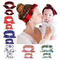 Fashion Mommy and Me Turband Headband Mom and Daughter Matching Head Wrap Floral Top Knot Head Wraps Headband HYS104