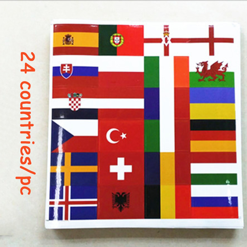 32 Countries Flag Face Sticker Football World Adhesive Paper Stickers Laptop Cup Notbook Decoration European National